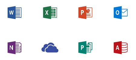 Icônes des applications d'Office 365